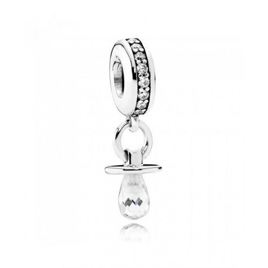 Pandora Charm-Silver Cubic Zirconia Dummy Pendant Jewelry