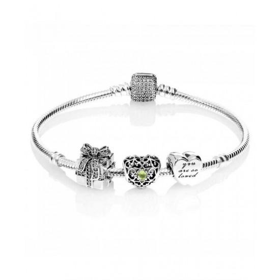 Pandora Bracelet-Sparkling August Birthstone Complete Jewelry