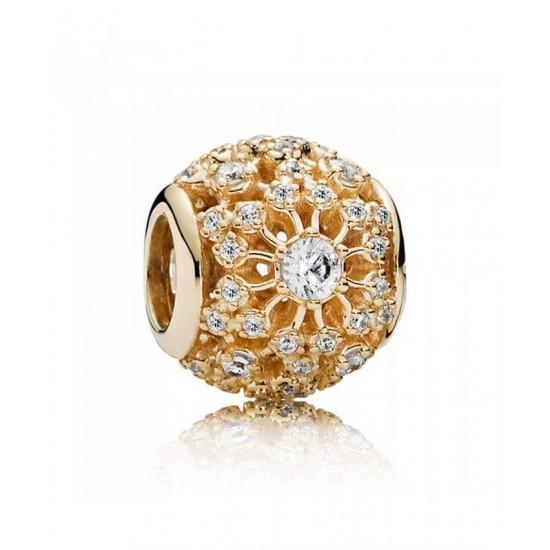 Pandora Charm-14ct Gold Inner Radiance Openwork Jewelry