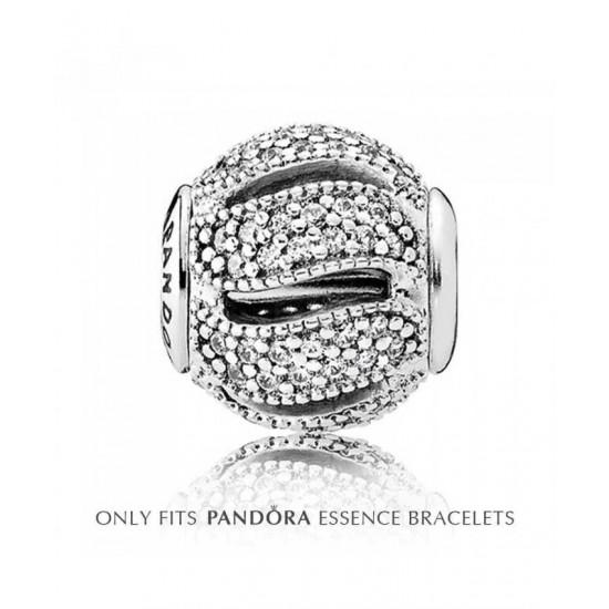 Pandora Charm-Essence Silver Cubic Zirconia Loyalty Jewelry