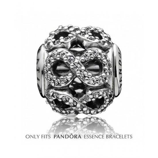 Pandora Charm-Essence Silver Cubic Zirconia Waves Dedication Jewelry