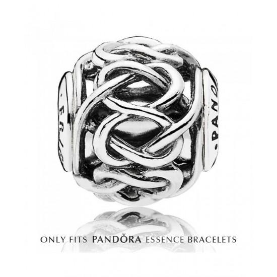 Pandora Charm-Essence Silver Openwork Friendship Jewelry