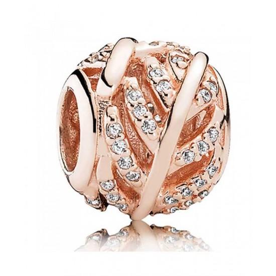 Pandora Charm-Rose Feather Jewelry