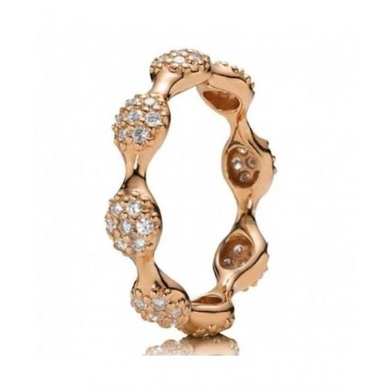 Pandora Ring-18ct Rose Gold Pave Diamond Jewelry