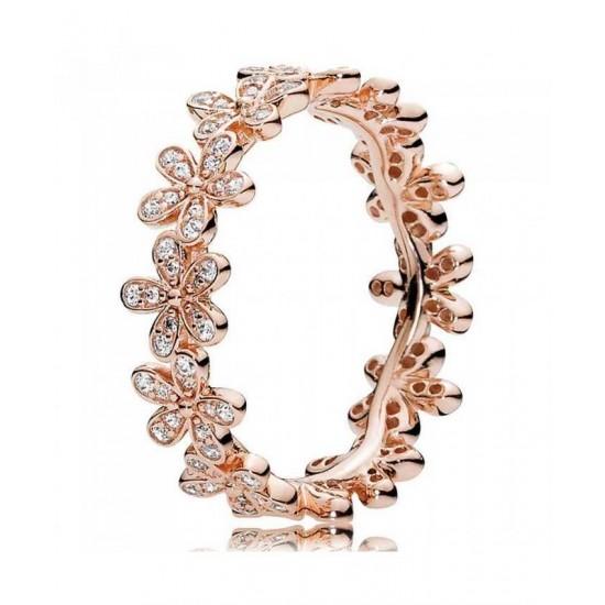 Pandora Ring-Rose Dazzling Daisy Cubic Zirconia Band Jewelry