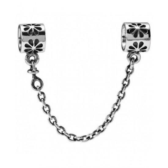 Pandora Safety Chain-Silver Flower Jewelry