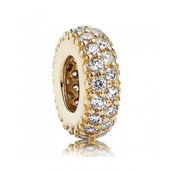 Pandora Spacer-14ct Gold Fancy Cubic Zirconia Jewelry