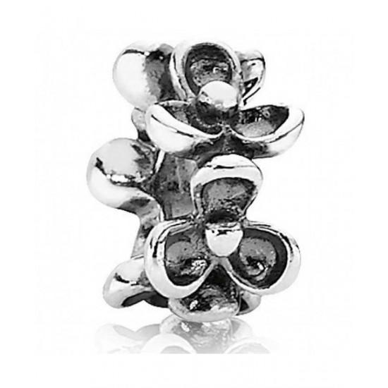Pandora Spacer-Silver Flower Jewelry