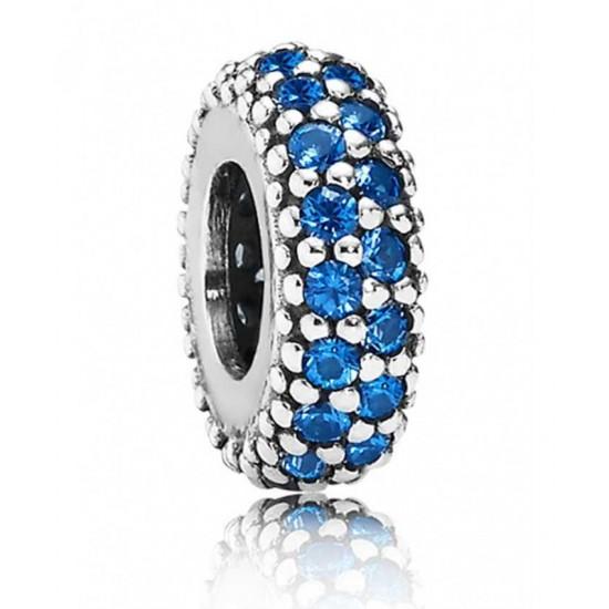 Pandora Spacer-Silver Starry Night Blue Crystal Jewelry