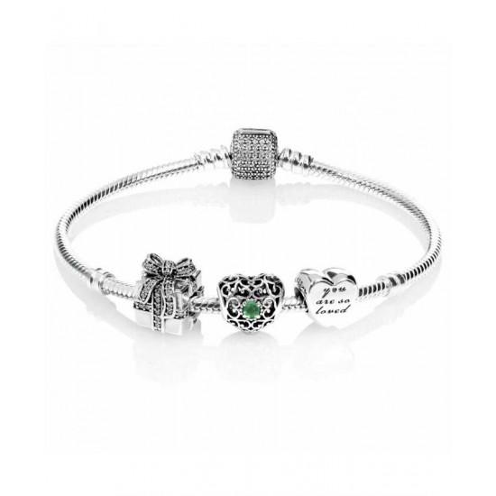 Pandora Bracelet-Sparkling May Birthstone Complete Jewelry