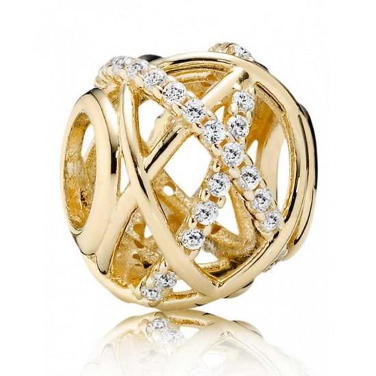 Pandora Charm-14ct Gold Openwork Sparkling Galaxy Jewelry
