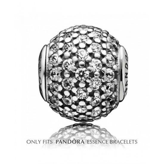Pandora Charm-Essence Silver Cubic Zirconia Pave Generosity Jewelry
