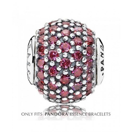 Pandora Charm-Essence Silver Red Cubic Zirconia Passion Jewelry