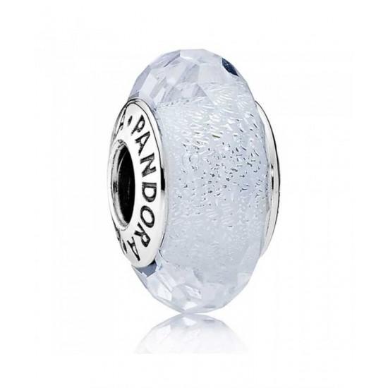 Pandora Charm-Oceanic Frosty Mint Glitter Sterling Silver Glass Jewelry