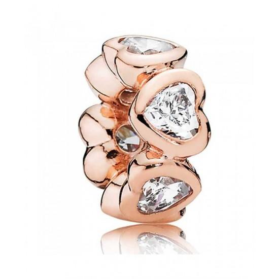 Pandora Spacer-Rose Sparkling Hearts Jewelry