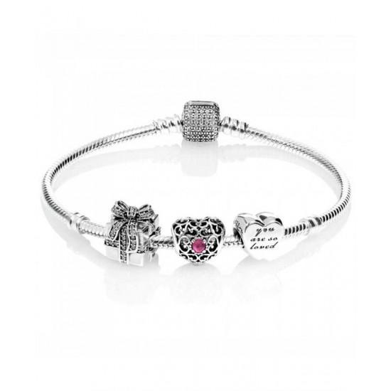 Pandora Bracelet-Sparkling July Birthstone Complete Jewelry
