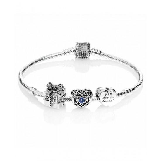 Pandora Bracelet-Sparkling September Birthstone Complete Jewelry