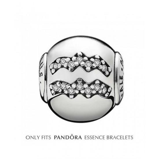 Pandora Charm-Essence Silver Aquarius Jewelry