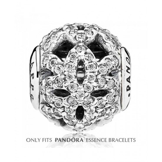 Pandora Charm-Essence Silver Cubic Zirconia Appreciation Jewelry