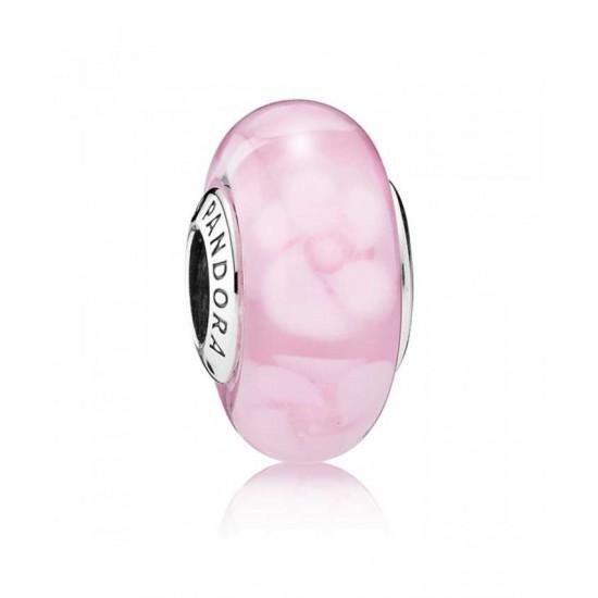 Pandora Charm-Silver Nostalgic Roses Murano Glass Jewelry