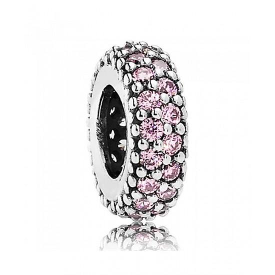 Pandora Spacer-Silver Fancy Pink Cubic Zirconia Jewelry