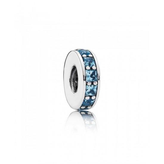 Pandora Spacer-Silver Sky Blue Eternity Jewelry