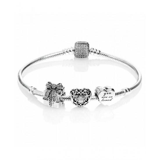 Pandora Bracelet-Sparkling June Birthstone Complete Jewelry