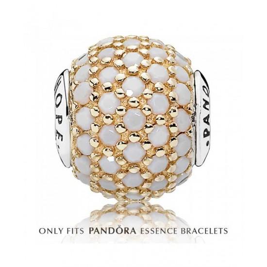 Pandora Charm-Essence 14ct White Crystal Hope Jewelry