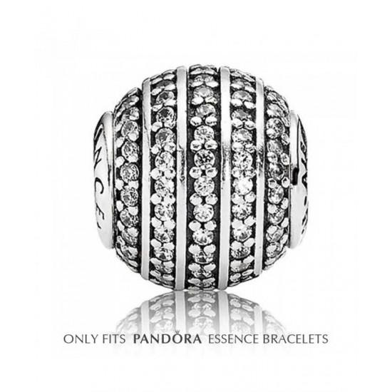 Pandora Charm-Essence Silver Cubic Zirconia Channels Confidence Bead Jewelry