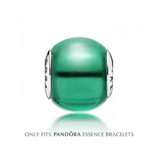 Pandora Charm-Essence Silver Green Cubic Zirconia Creativity Jewelry