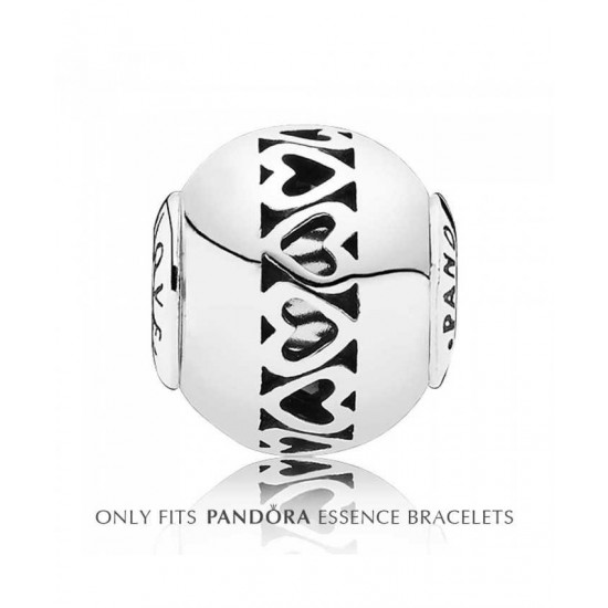 Pandora Charm-Essence Silver Openwork Love Jewelry