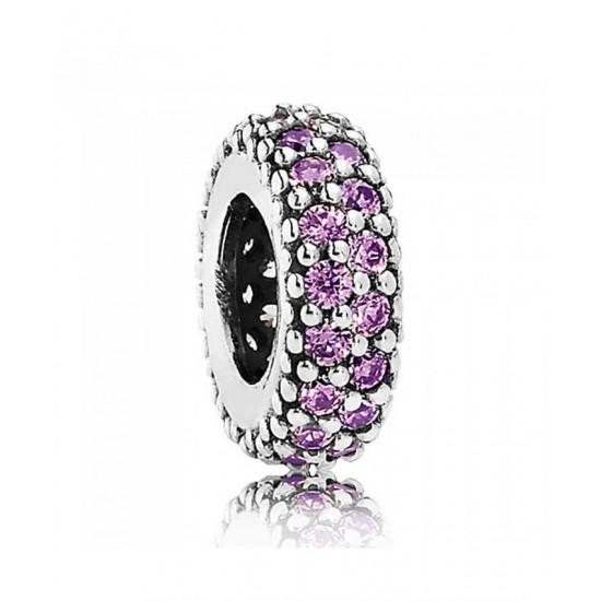 Pandora Spacer-Silver Fancy Purple Cubic Zirconia Jewelry