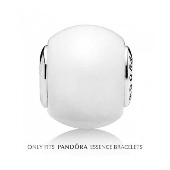 Pandora Bead-Essence Silver Milky Quartz Hope Jewelry