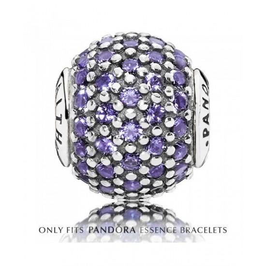 Pandora Charm-Essence Silver Purple Faith Jewelry
