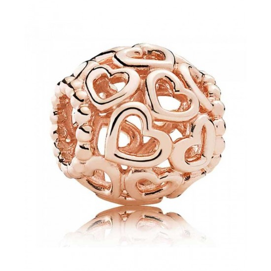 Pandora Charm-Rose Open Your Heart Jewelry Outlet Online