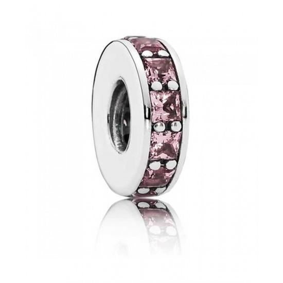 Pandora Spacer-Silver Blush Pink Eternity Jewelry