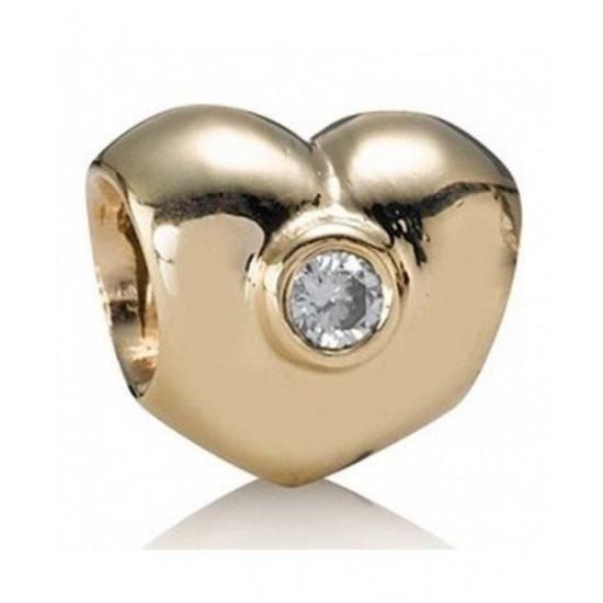 Pandora Bead-14ct Diamond Heart Jewelry