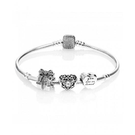 Pandora Bracelet-Sparkling April Birthstone Complete Jewelry