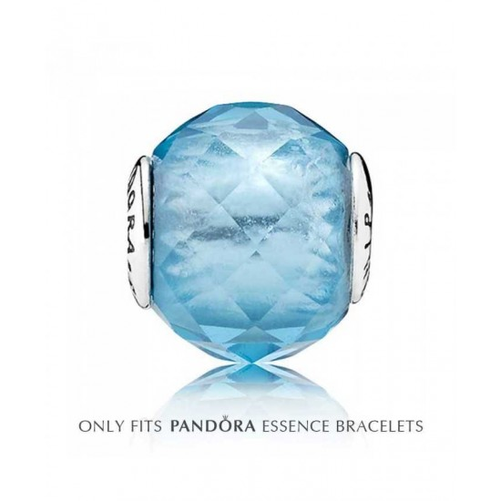 Pandora Charm-Essence Silver Blue Crystal Friendship Jewelry