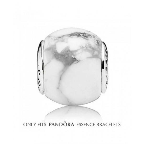 Pandora Charm-Essence Silver Magnesite Positivity Bead Jewelry