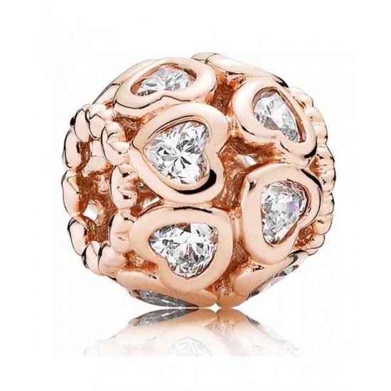 Pandora Charm-Rose Love Bonds Jewelry