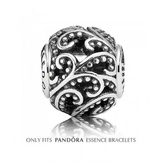 Pandora Charm-Essence Silver Open Lace Freedom Bead Jewelry