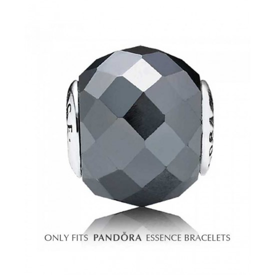 Pandora Charm-Essence Silver Synthetic Hematite Courage Bead Jewelry