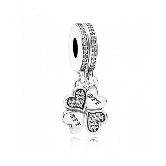 Pandora Charm-Silver Best Friends Forever Dropper Jewelry