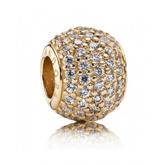 Pandora ring-14ct Gold Clear Cubic Zirconia Pave Ball Jewelry