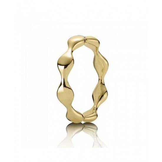 Pandora Ring-18ct Gold Waves Jewelry