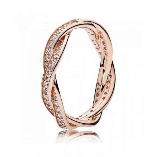Pandora Ring-Rose Twist Of Fate Cubic Zirconia Shop Best Sellers