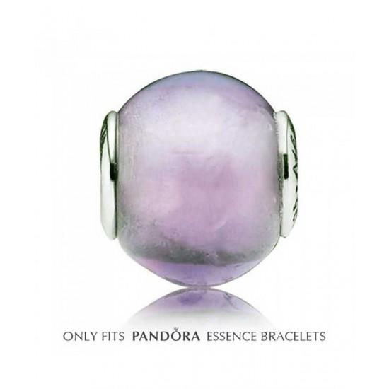 Pandora Bead-Essence Synthetic Amethyst Faith Jewelry