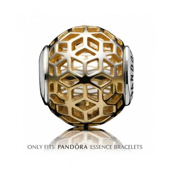 Pandora Charm-Essence Silver 14ct Gold Intuition Jewelry