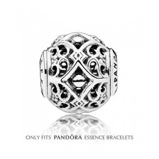 Pandora Charm-Essence Silver Ornate Affection Jewelry Sale Online